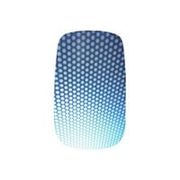 blue and white ombre and dot pattern