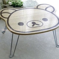 Rilakkuma Bear Wooden Mini Foldable Table for Notebook on Sofa /Breakfast on Bed