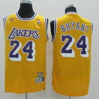 LA Lakers #24 Kobe Bryant Yellow Retro Swingman Jersey