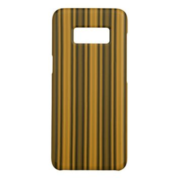 Orange and Black Stripes Case-Mate Samsung Galaxy S8 Case