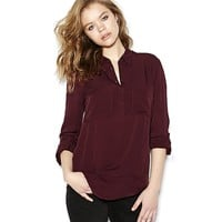 Relaxed Henley shirt