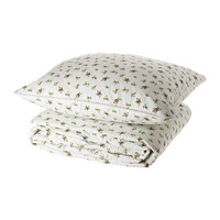 EMMIE BLOM Bedspread and cushion cover - 180x280/65x65 cm  - IKEA