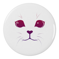 "Heart Kitten 2.25"" Round Pin Button by"
