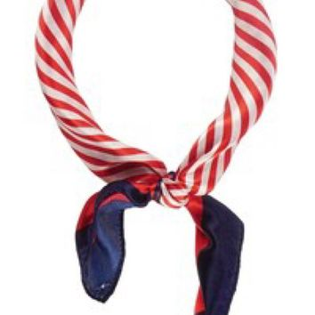Silk Scarf - Red/White/Blue