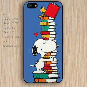 iPhone 5s 6 case colorful dog reading iphone case,ipod case,samsung galaxy case available plastic rubber case waterproof B243