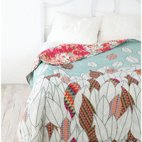 Urban Outfitters - Reversible Leaves Quilt
