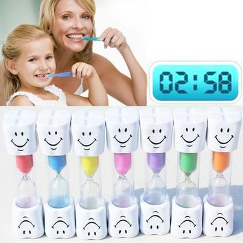 Sand Clock 3 Minutes Smiling Face The Hourglass Decorative Household Items Kids Toothbrush Timer Sand Clock Gifts #11020