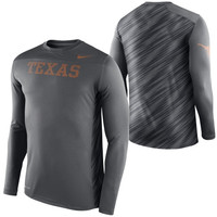 Texas Longhorns Nike Speed Long Sleeve Performance T-Shirt – Anthracite