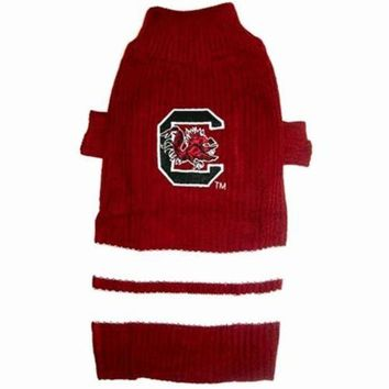 CUPUPHP South Carolina Gamecocks Dog Sweater