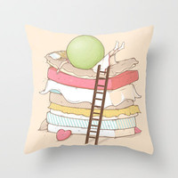Can't sleep Throw Pillow by Naolito