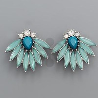 Marquise Beads Post Earrings