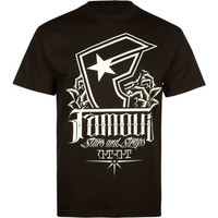 Famous Stars & Straps Foundation Mens T-Shirt Black  In Sizes
