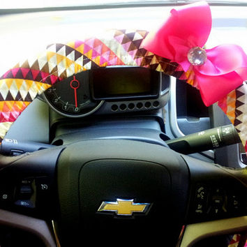 Tribal Steering Wheel Cover with Your choice of Bow