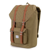 Herschel Supply Co.: Little America Backpack Quilted Collection - Army