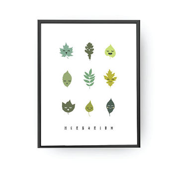 Herbarium Print, Kids Room Art, Nursery Decor, Learning Plants, Nursery Art, Kids Print, Botanical Chart, Classroom Decor, Kids Education