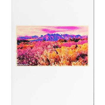 Colorful Colorado Mountains Aluminum Magnet by TooLoud