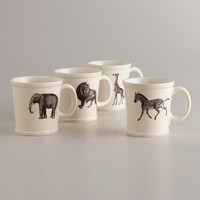 Animal Inspiration Mugs, Set of 4