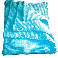 Beautiful Hand knitted large, soft, fluffy and warm baby blanket