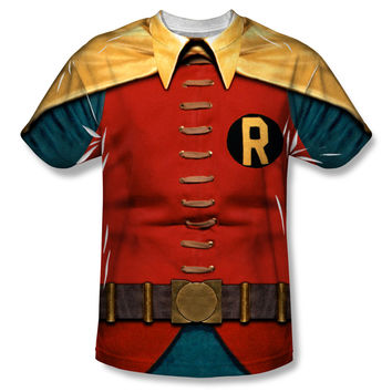 Robin Batman Classic TV Series Costume Sublimation Mens T-Shirt