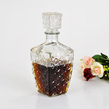 Glass Whiskey Liquor Wine Drinks Decanter Crystal Bottle