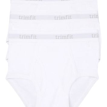 3-Pack Tagless 100% Combed Cotton Briefs (White)
