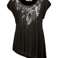 Miss Me Sequin Leaf Top