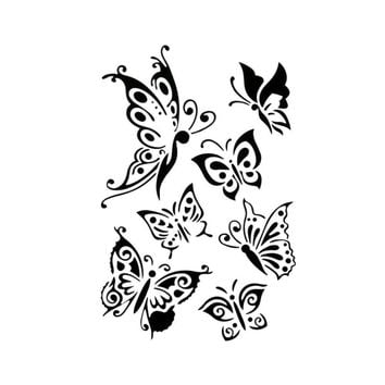 Cute Butterfly Layering Stencils For Walls Painting Scrapbooking Stamps Album Decorative Embossing Paper Cards DIY Craft  Tools