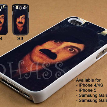 Funny Kellin Queen Sleeping With Sirens Mustache Design for iPhone 4/4s/5 Case, Samsung Galaxy S3/S4 Case