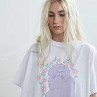 Lazy Oaf Floral Cat T-shirt - Everything - Categories - Womens