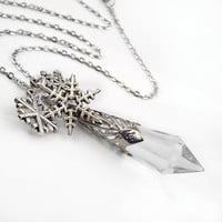 Winter Solstice Ice Fairy Crystal and Silver by TrashAndTrinkets