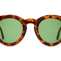 The T.V. Eye Sunglasses - Gloss Tortoise w/ Green Tint CR-39 Lenses