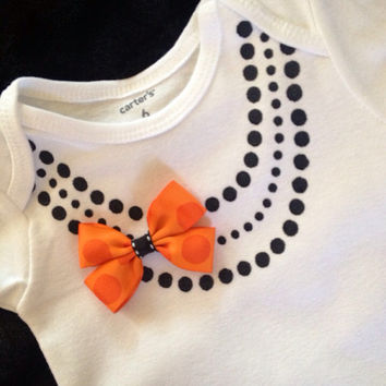Halloween Cute baby girl gift fashion faux pearl by afalasca
