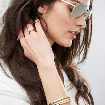 Michael Kors Kendall Aviator in Gold at asos.com