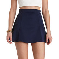 DROPPED WAIST SKATER SKIRT