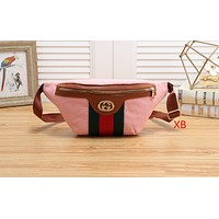 Gucci Chaoyang style simple street pockets shoulder slung handbag Pink