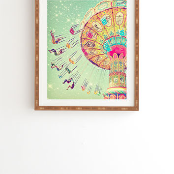 Shannon Clark Swinging Through Stars Framed Wall Art