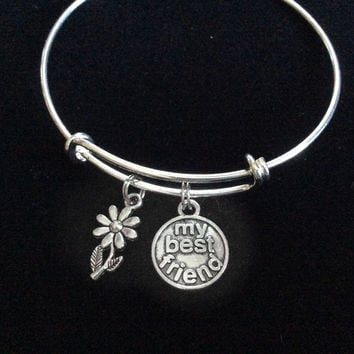 My Best Friend Expandable Charm Bracelet Adjustable Bangle Trendy Gift Charm Bracelet