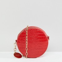 Faith Circle Cross Body Bag with Chain Strap at asos.com
