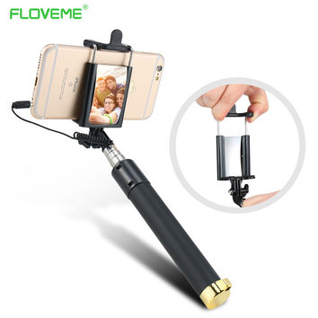 Wired Handheld Selfie Stick Monopod With Mirror Mini Fashion Self-timer For iPhone 6 6S Plus For Samsung Xiaomi Huawei Monopod