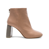 Acne Studios Leather Claudine Booties in Pink & Grey | FWRD