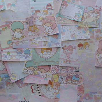LITTLE TWIN STARS Memo Sanrio Note Paper Stationery Writing Penpal Stationary from Notepad Japan Lot Deal Variety Girl Gift Journal Diary
