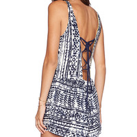 SAYLOR Haley Romper in Navy