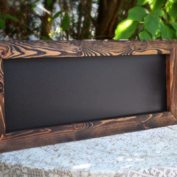 "Rustic Framed Chalkboard 12""x30"" Ships in 3 Days!"