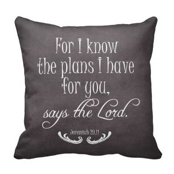 Chalkboard Bible Verse Quote Pillows