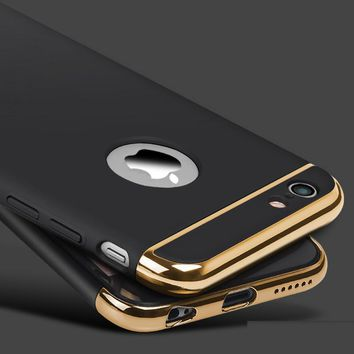 Case Cover for iPhone Luxury Gold Hard 6 6S 6 6S 7 Plus 4.7 5.5 Ich
