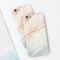 Hot Selling Fashion Marble Case for iPhone 7 Case For iphone7 6 6S / Plus Phone Cases Luxury Soft IMD Capa Granite Back Cover -0315