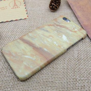 Unique Khaki Marble Best Protection iPhone 7 7 Plus & iPhone 6 6s Plus & iPhone 5s se Case Personal Tailor Cover + Gift Box-170928