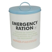 Biscuit Barrel (Metal) - Ration Book (Emergency) - £21.00 - A great range of For Cooks gifts and homewares from The Contemporary Home Online Shop
