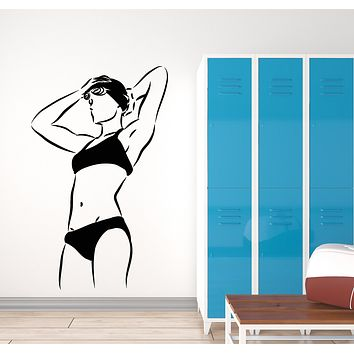 Vinyl Wall Decal Water Swimsuit Water Sport Swimming Pool Stickers Mural (g1288)