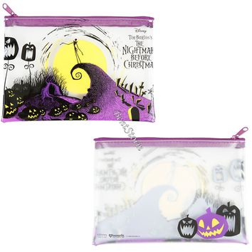Licensed cool The Nightmare Before Christmas Jack Clear Pencil Case Cosmetic Tote Bag Disney